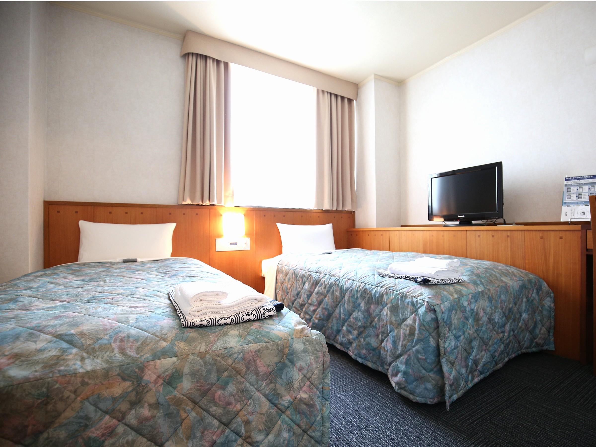 ホテル姫路プラザ / [喫煙室]コンパクト・ツインルーム(2名部屋)■広さ13平米