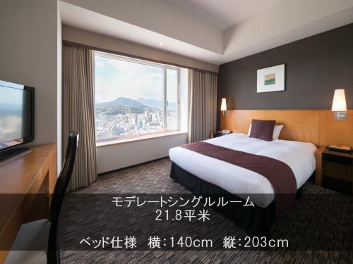 ホテル日航大分 オアシスタワー / 喫煙モデレートシングル(ベッドは広々セミダブルサイズ♪)