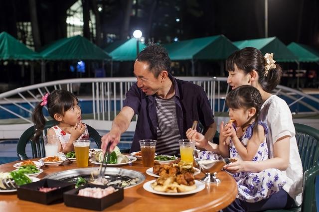 ラグゼ 一ツ葉 / コテージ・ヒムカ / 【夕食・朝食】夏休みはみんなでわいわい♪プールサイドバーベキュー