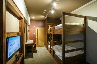 ホテルリリーフ なんば大国町 2段ベッド×1台(幅120cm)【禁煙】バンクツインルーム