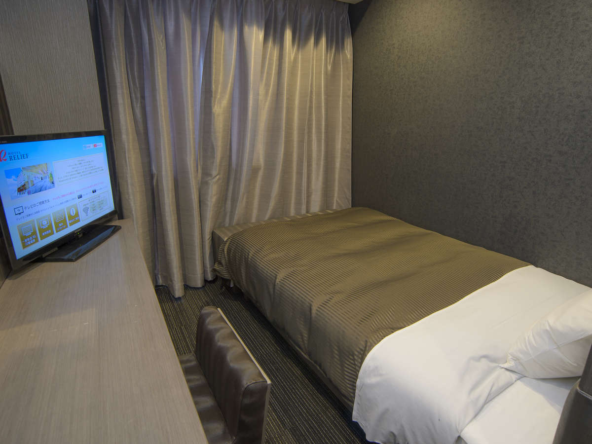 ホテルリリーフ 札幌すすきの ☆1名利用セミダブルルーム(喫煙)120cm幅ベッド1台☆