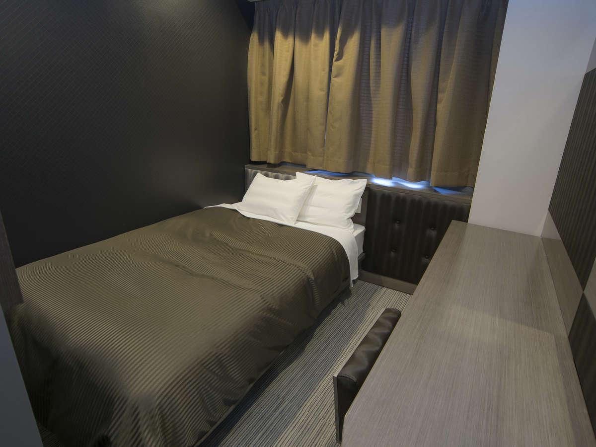 ホテルリリーフ 札幌すすきの ☆2名利用セミダブルルーム(喫煙)120cm幅ベッド1台☆