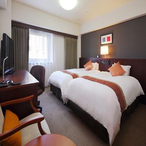 リッチモンドホテル仙台 / ◇禁煙:ツイン セミダブルベッド2台