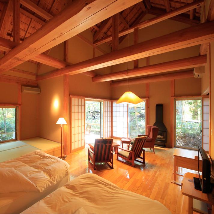 温泉山荘だいこんの花 林をそよぐ 「山桜」