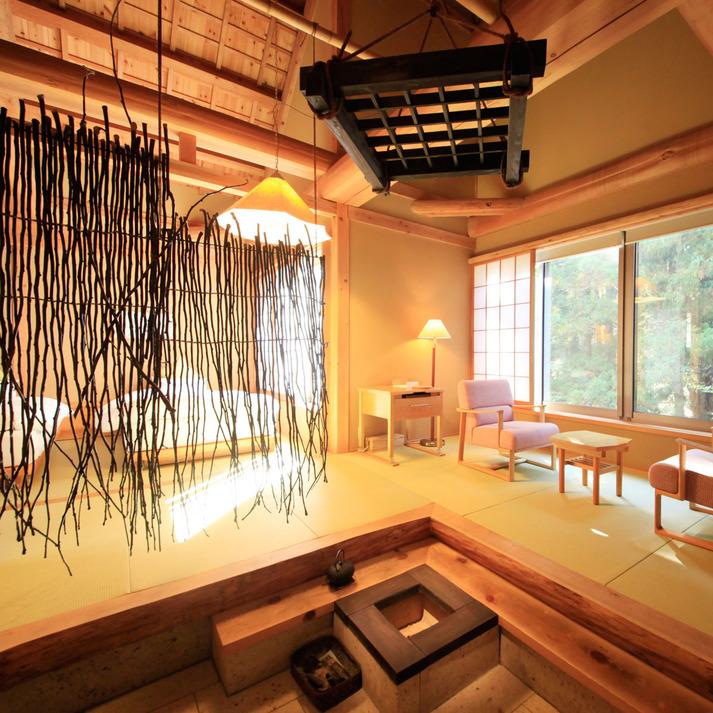 温泉山荘だいこんの花 / せせらぎを聴く 「糸トンボ」