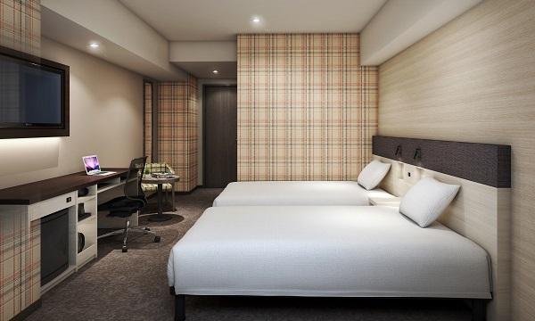 スマイルホテル岡山 / 【全室禁煙】ユニバーサルツインルーム