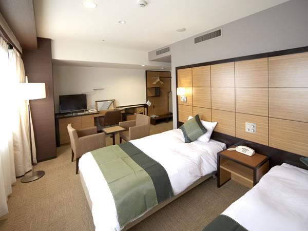 ホテルウィングインターナショナルプレミアム東京四谷 喫煙可◆エグゼクティブツイン【32㎡・ベッド幅120cm】